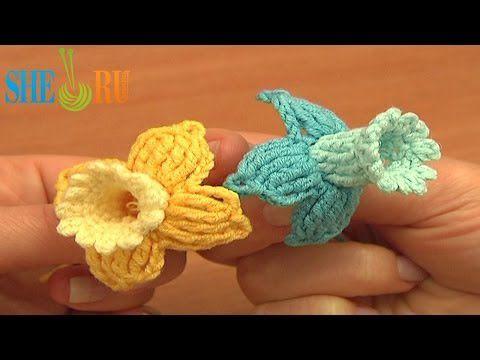 Вязание крючкам цветок видео мастер класс