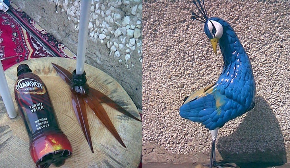 Поделки из пластиковых бутылок птицы картинки