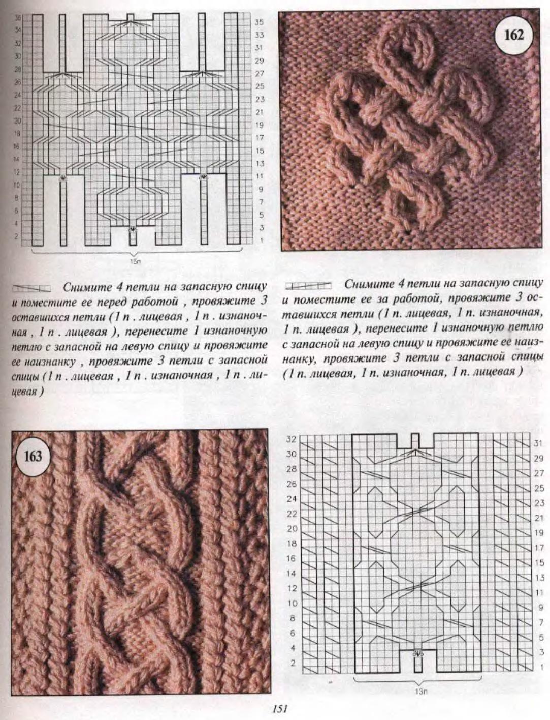 вязание спицами узоров из кос схемы в картинках методом