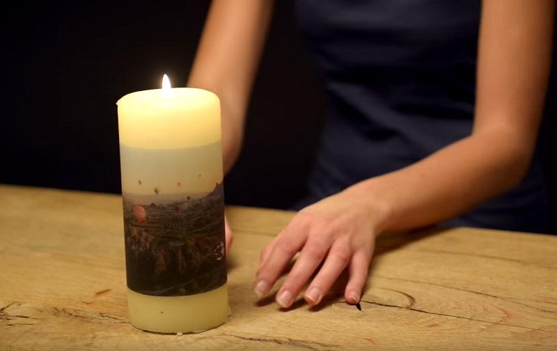 помещение перенести фото на свечу если