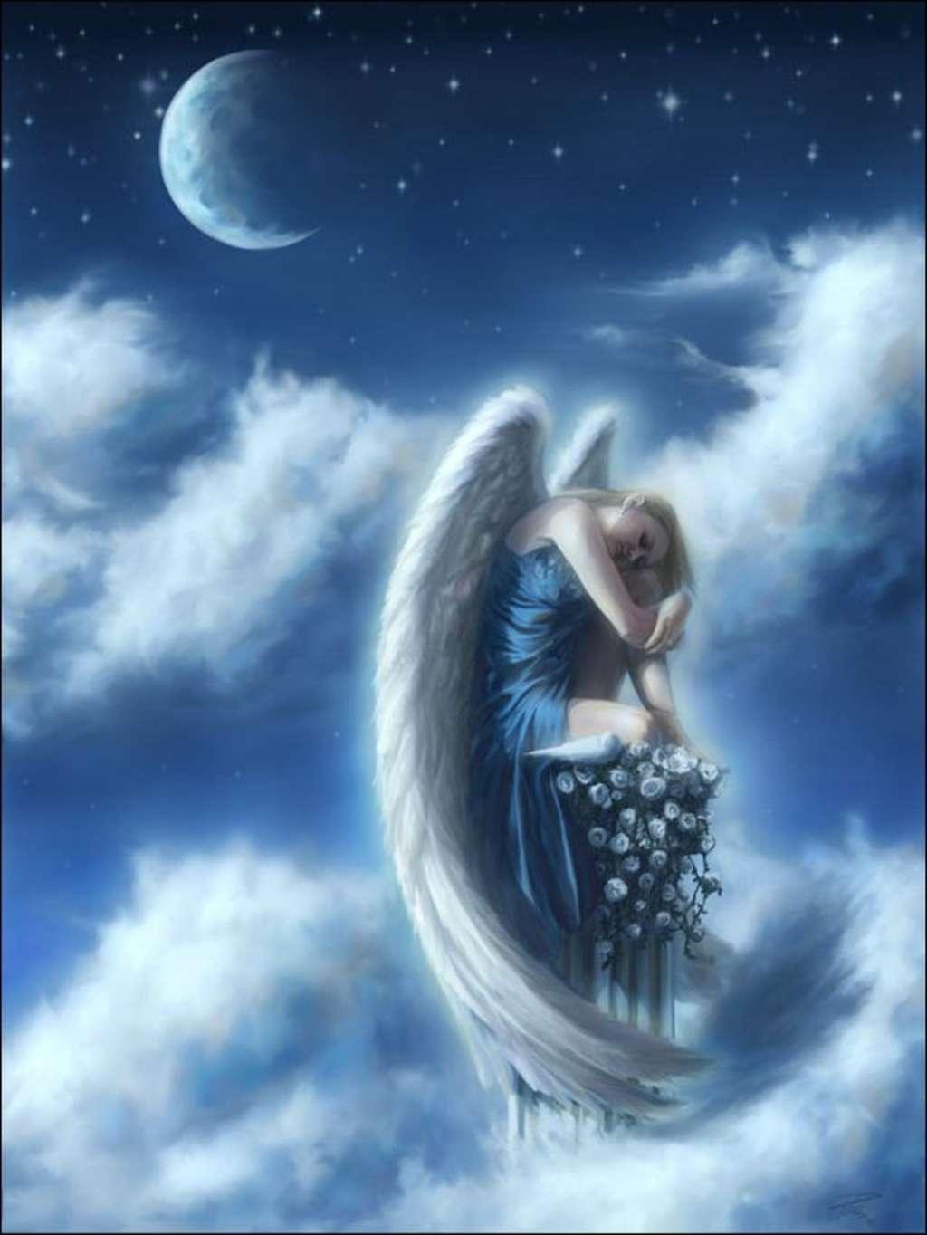 картинки с ангелами на ночь уже битком