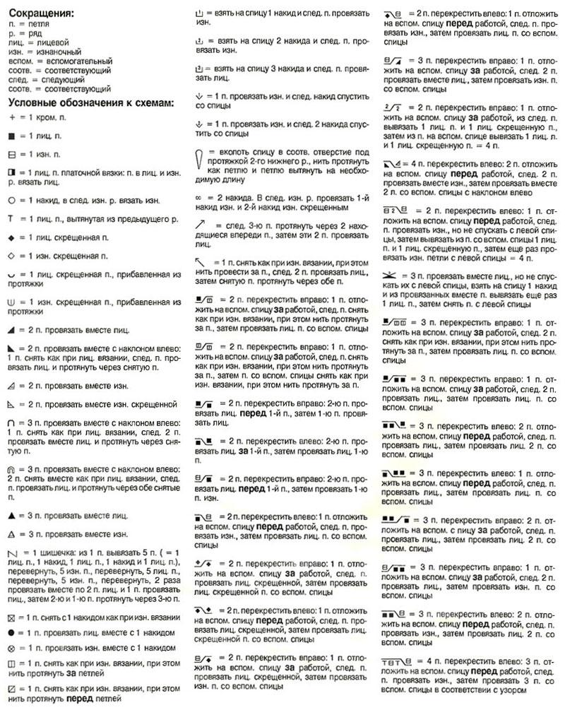 Вязание крючком схемы с условными обозначениями 53