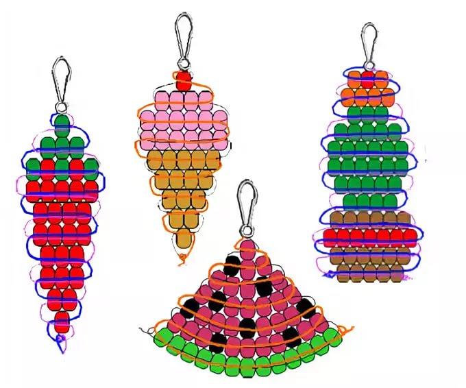 картинки плетение из бисера фигурки