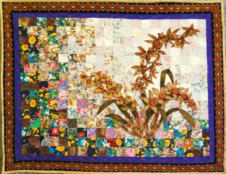 Картины из лоскутков ткани своими руками фото
