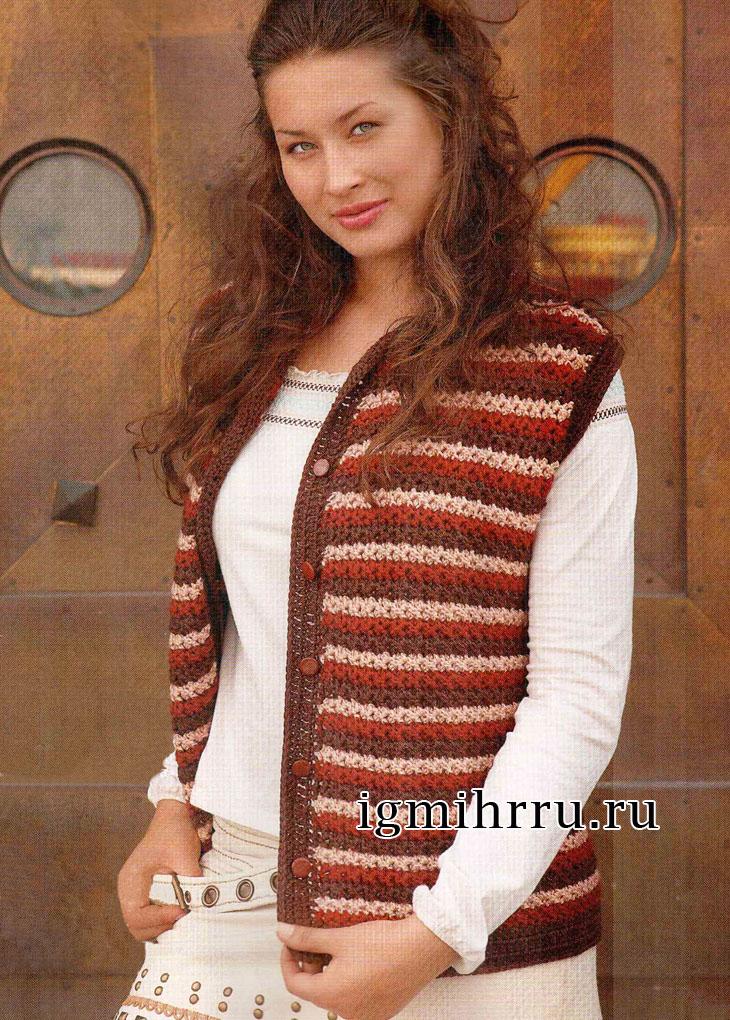 Вязание спицами, шарф снуд от Lion Brand 73