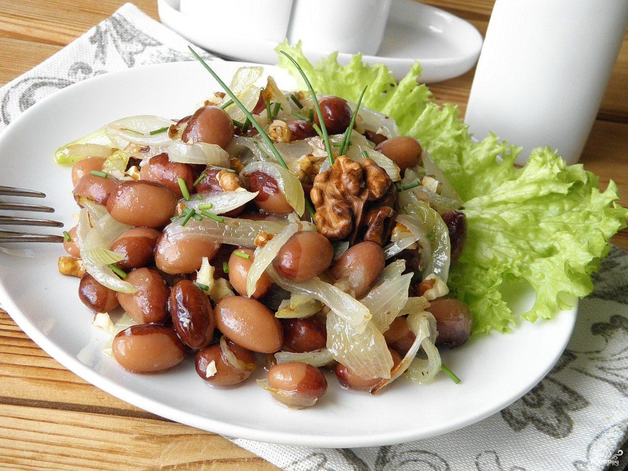 салат с фасолью фото пошагово интернете нашла видео