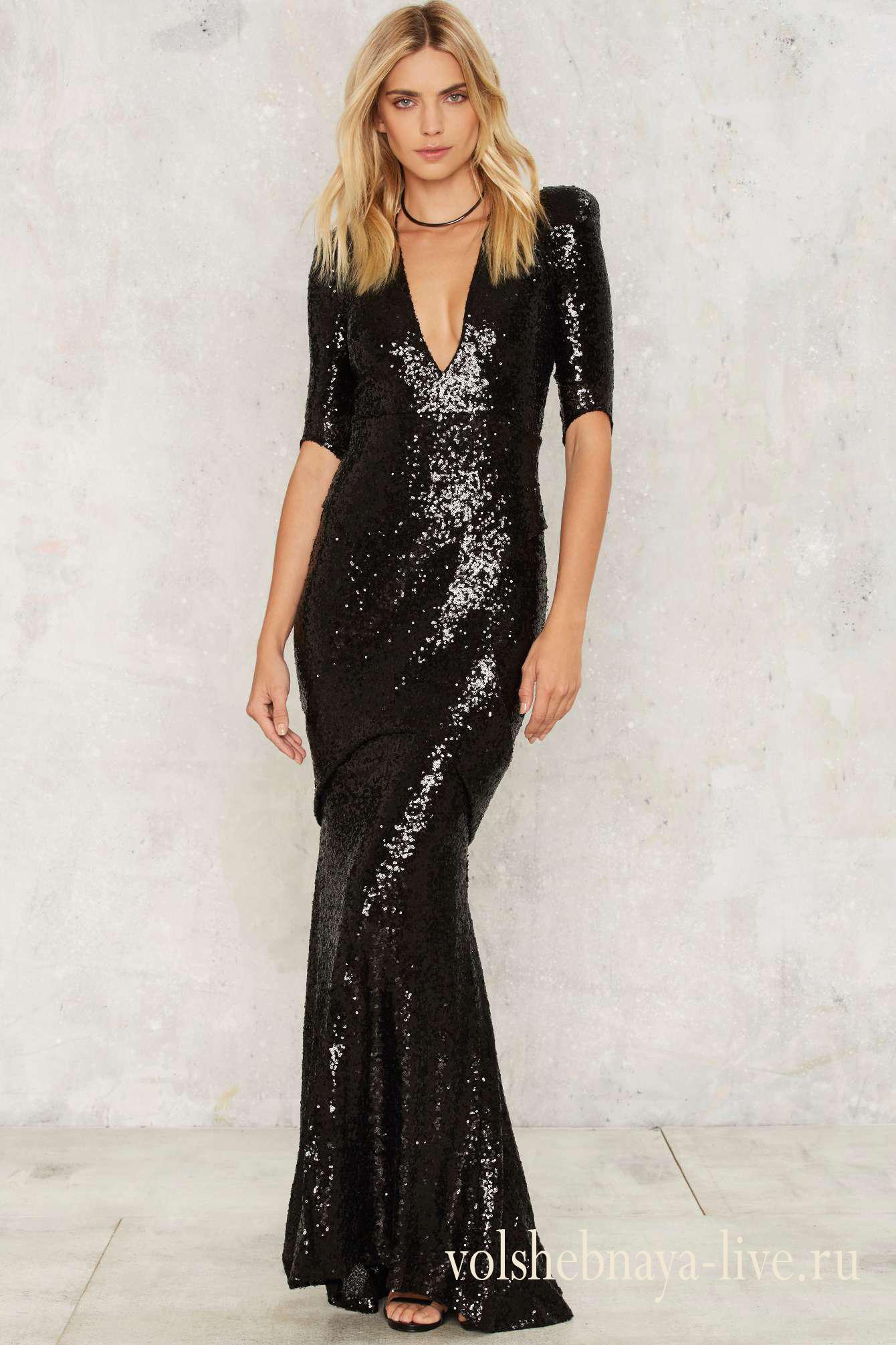 5a7a47e98f7 Черное платье в пол с пайетками ослепительно! - volshebnaya-live · zoom in