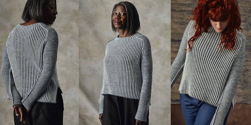 свитер английской резинкой Luna женский свитер вязаный спицами