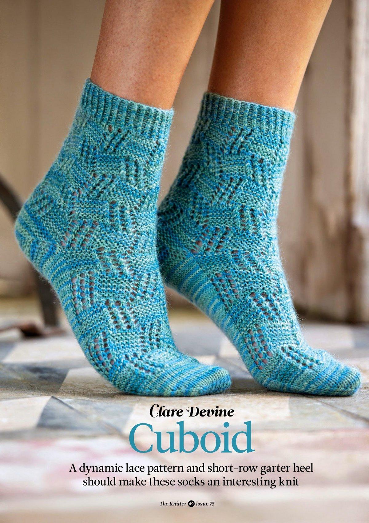 вязаные ажурные носки Cuboid The Knitter 75 вдохновленные