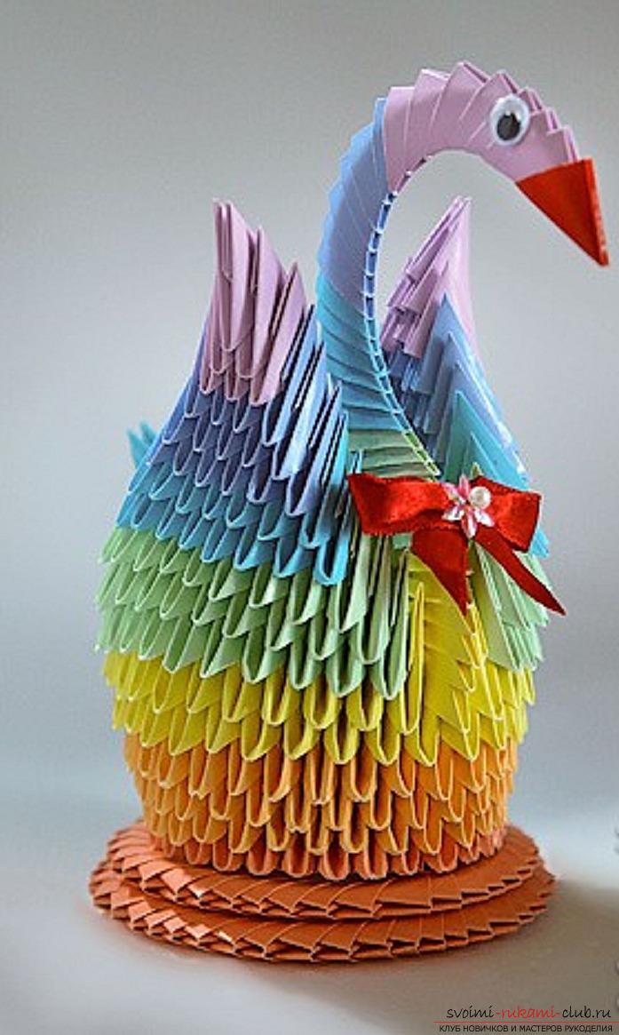 Поделки модульного оригами из бумаги своими руками фото 342