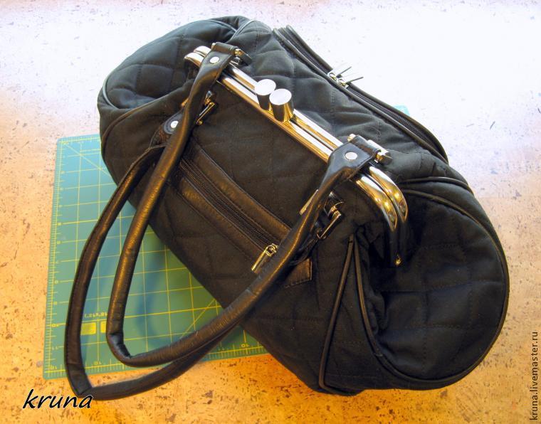 86a8cd10ce97 Изготовление сумки с фермуаром, который крепится с помощью стопорных ...