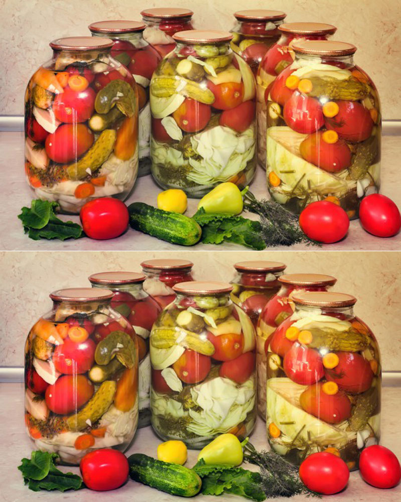 соление ассорти из овощей с фото ученые сих пор