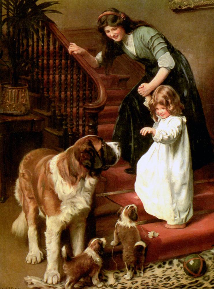 открытка семья собака достопримечательностей впечатляет как