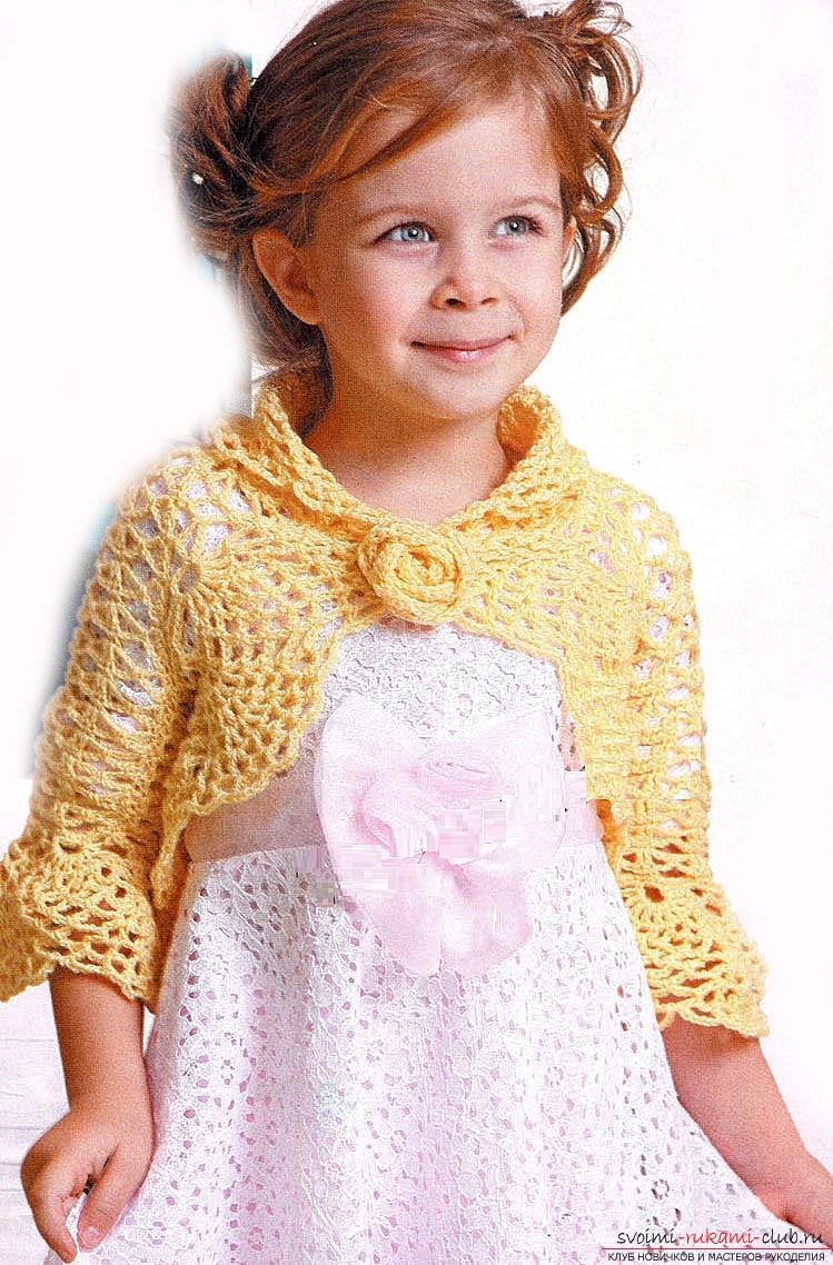 Пальто для девочки 5 лет схема и описание