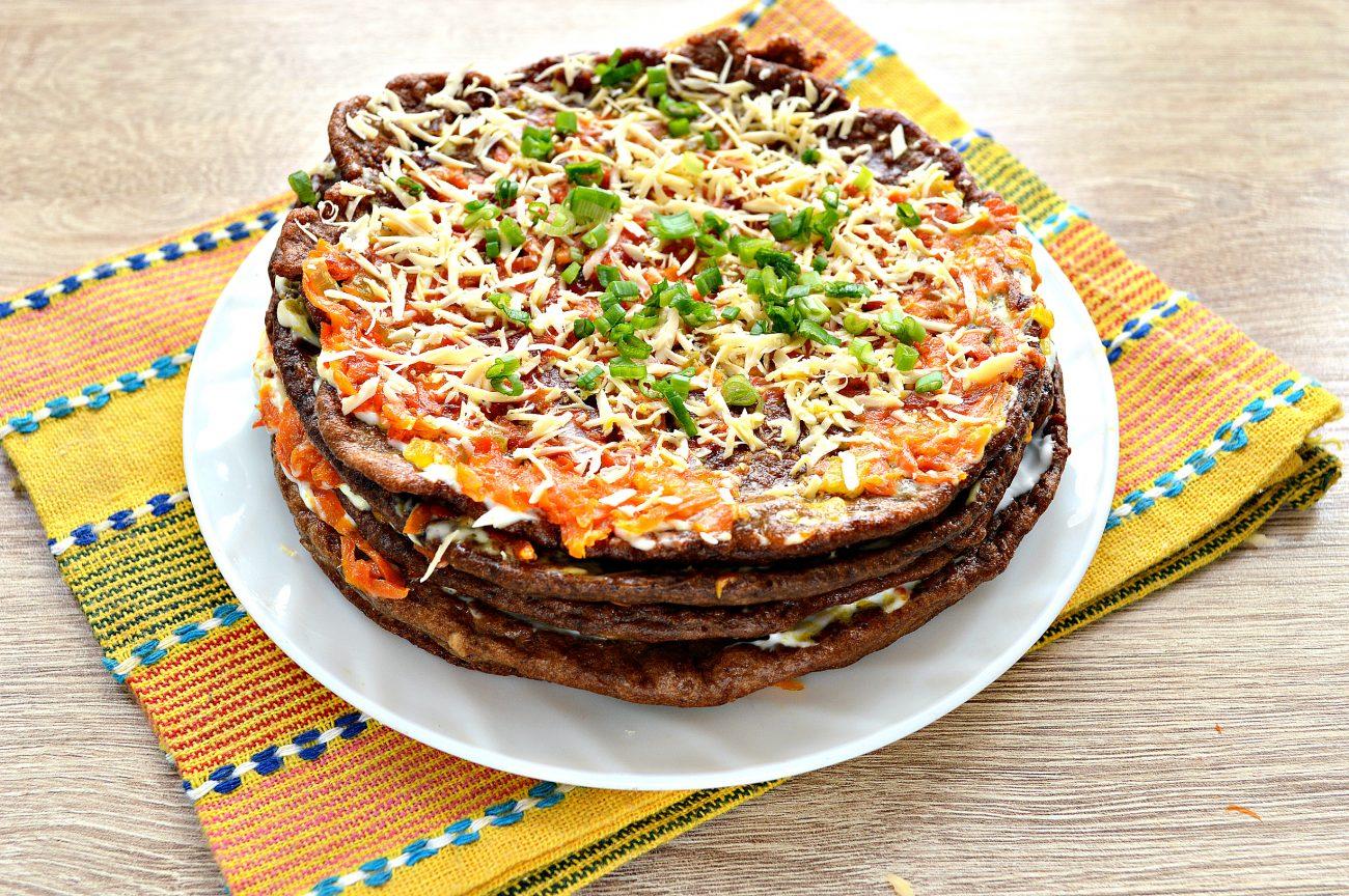 свойства торт из печенки рецепт с фото сильно