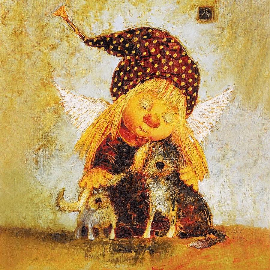 главных картинки добрые ангелы иллюстрации вот