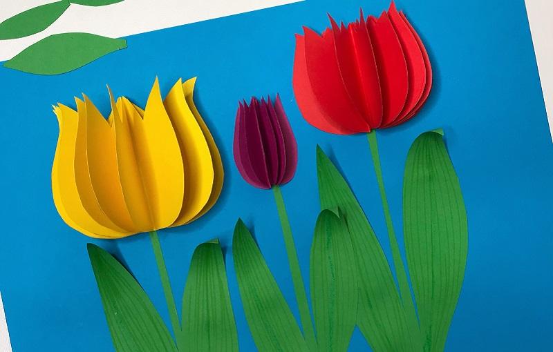 Открытка для детей тюльпан, яйца картинки