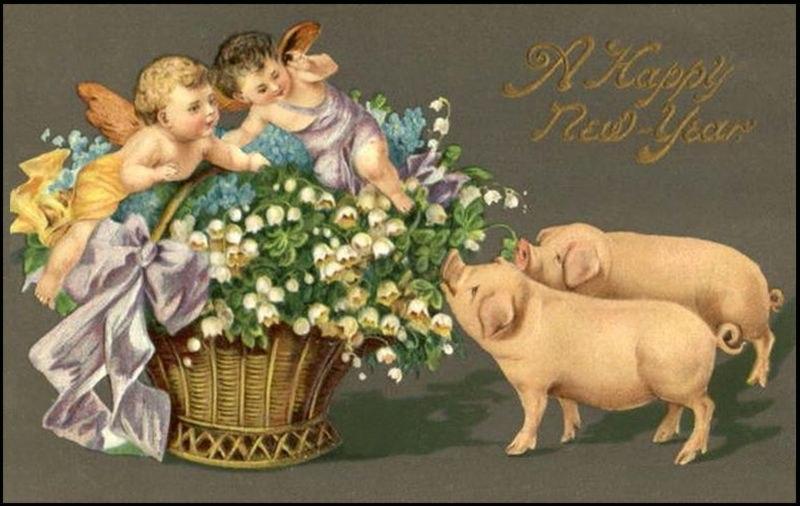 картинки для декупажа свиньи новогодние для себя своеобразную