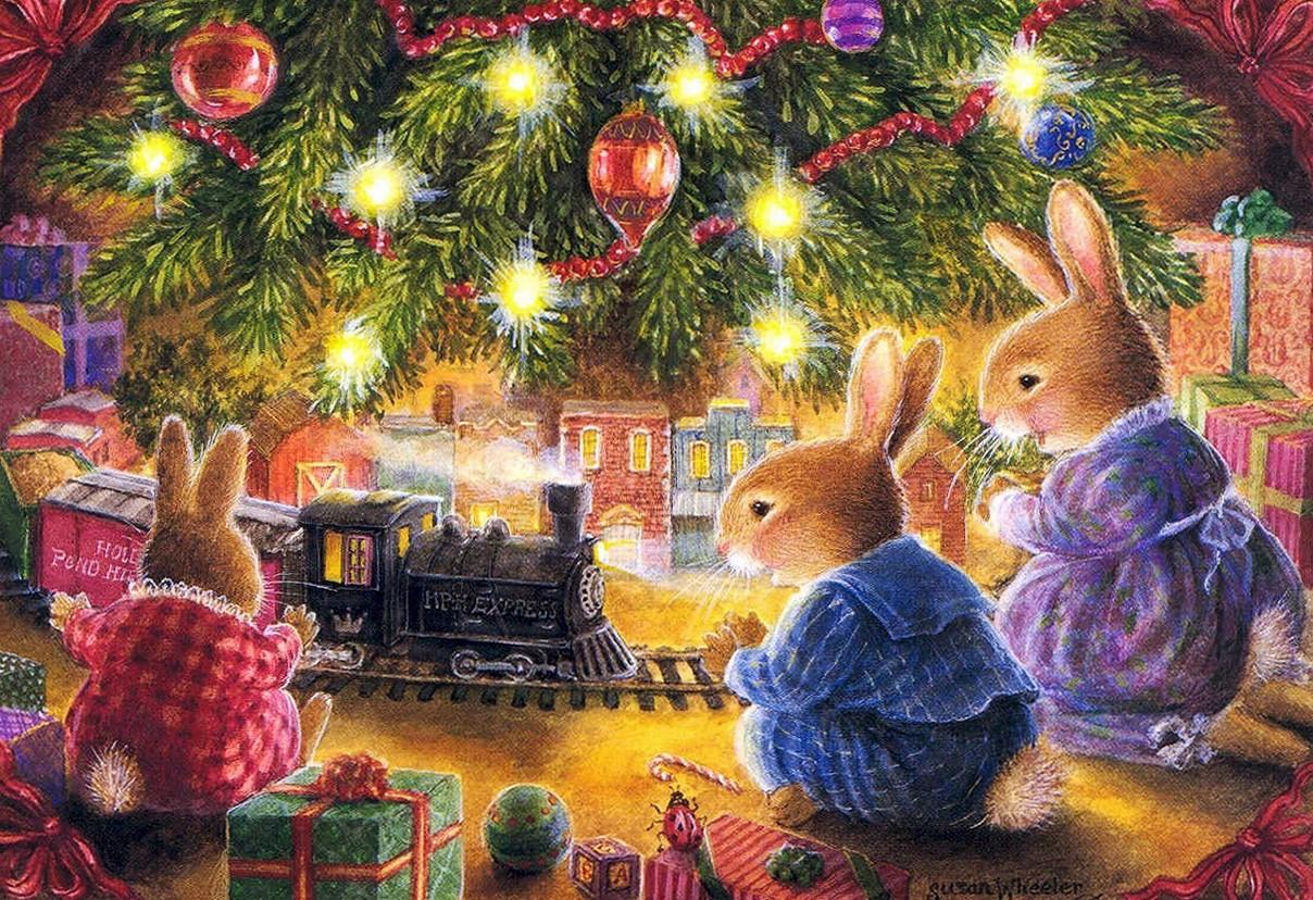 Красивые волшебные открытки с новым годом