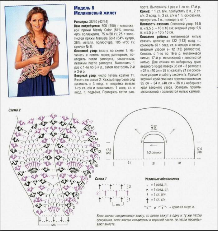 Схема вязания жилета для начинающих фото 604
