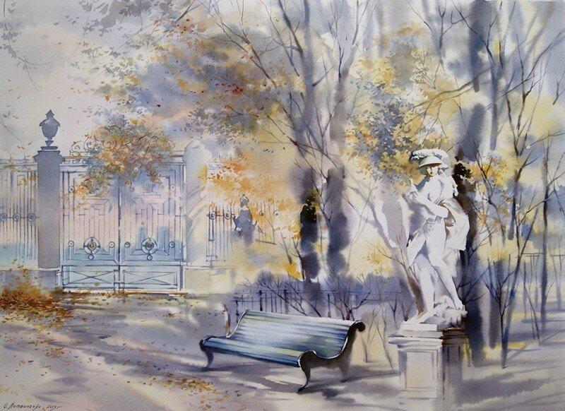 Рисунок летний сад санкт-петербург утро отеле