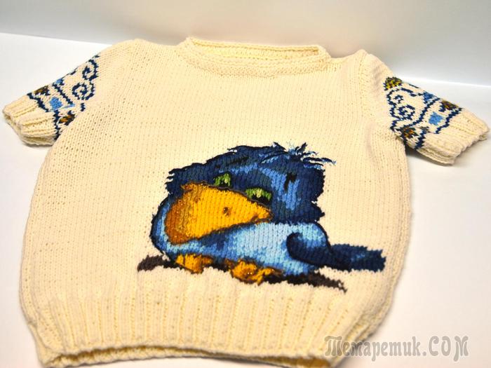 Вывязать картинку на свитерке