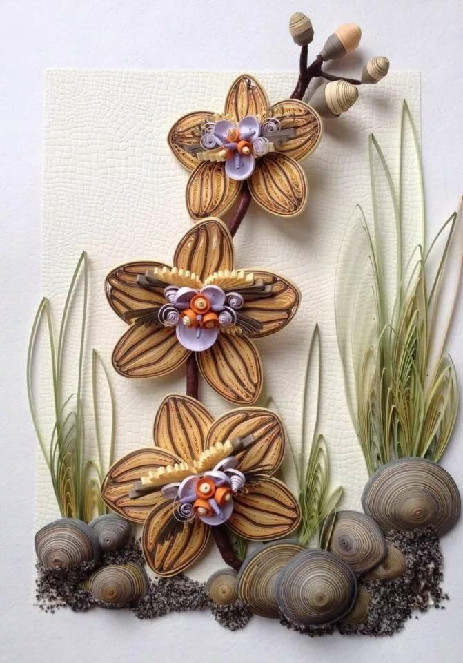 орхидея квиллинг фото оскол