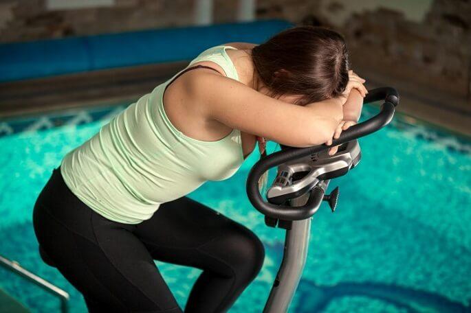 Похудели на велотренажере