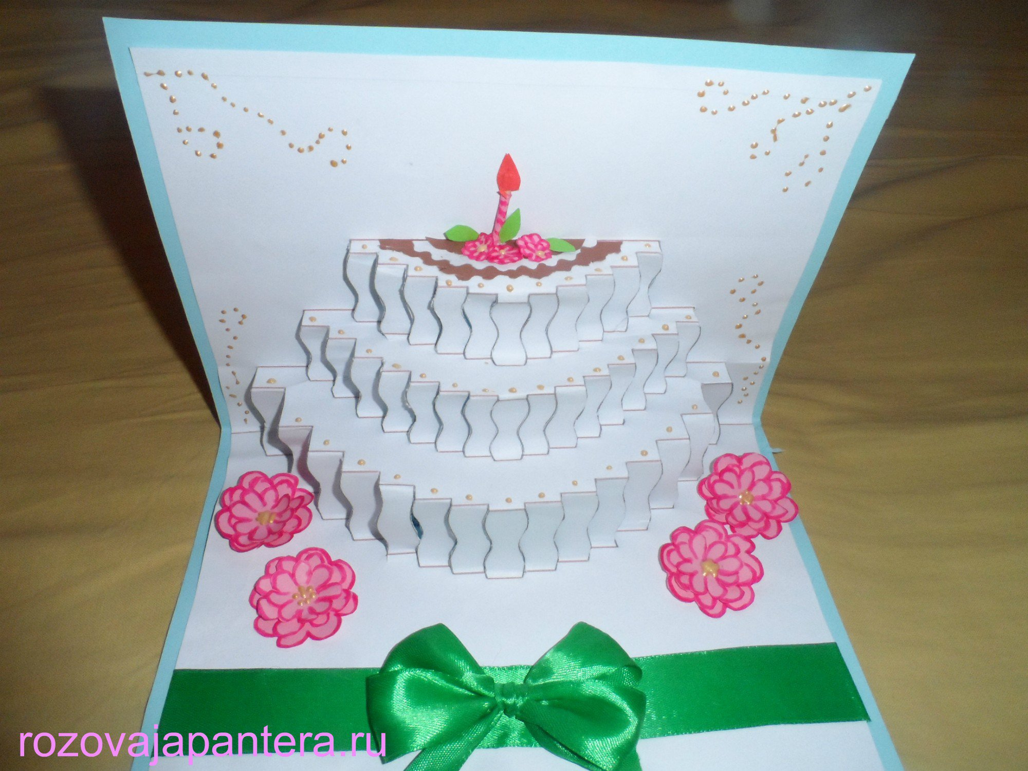 Объемная открытка для тети на день рождения, анимации