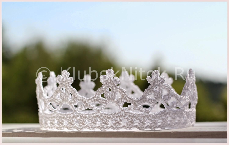 белоснежная корона вязание для девочек вязание спицами и крючком