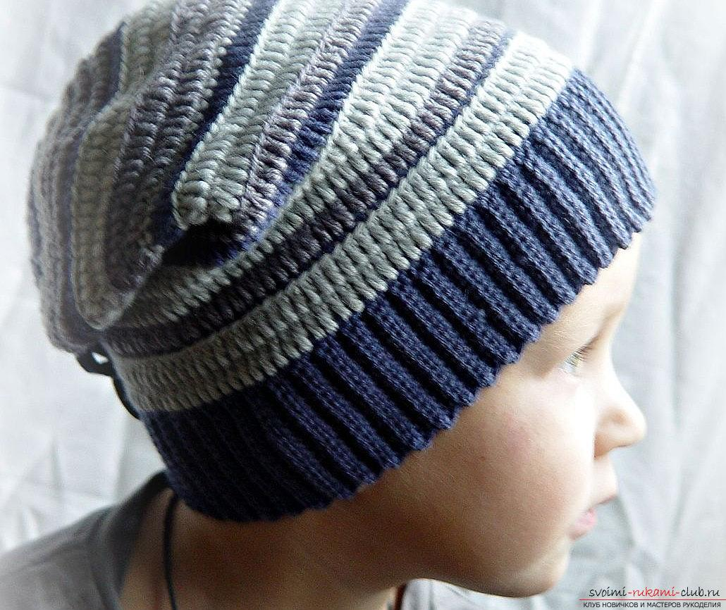 Вязать шапку для мальчика схемы