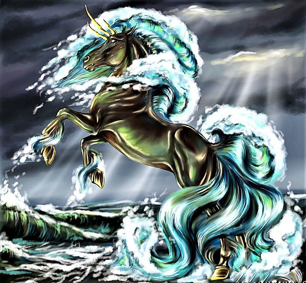 москве картинки лошадей с русалками была