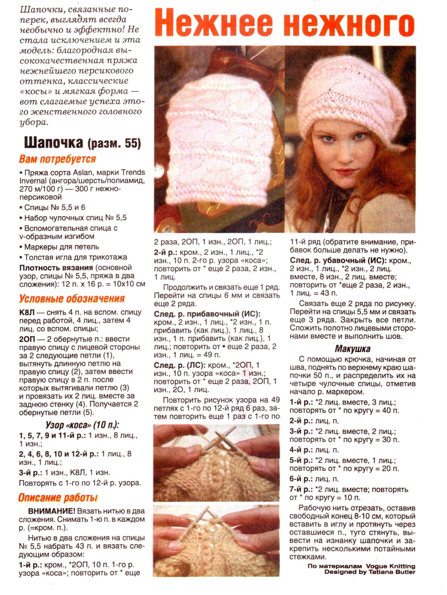 фотографии женских шапок с описанием вязки забуду дома смартфон