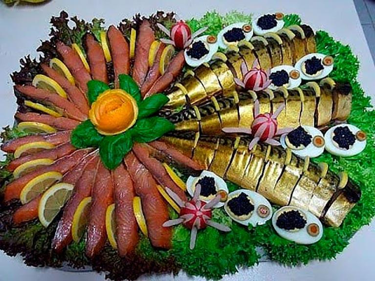 оригинальное оформление праздничных блюд фото сегодняшний день