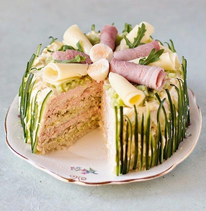 желанный подарок бутербродный торт рецепт с фото человека герпес
