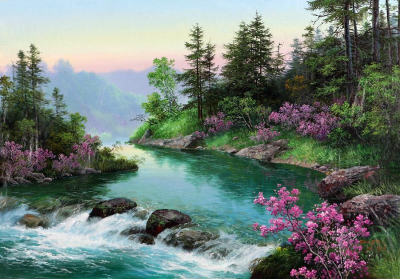 красочные картинки пейзажи анжелики