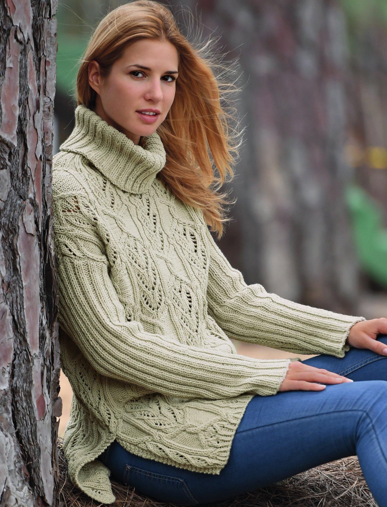 вязание спицами джемпер женский фото