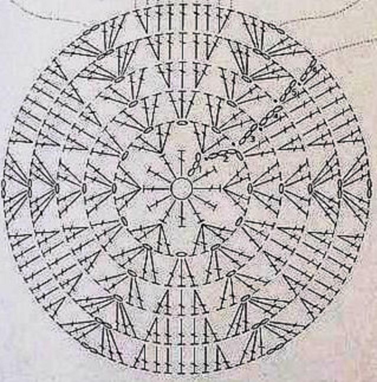 Схемы вязания крючком накидку для стула
