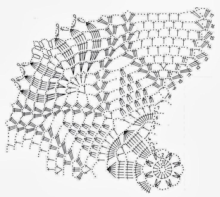 Салфетки крючком вязание схемой 5