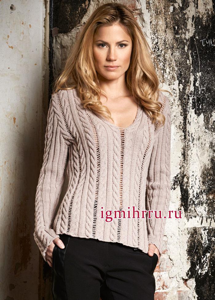9c70d7bbb14 Шерстяной пуловер цвета розового дерева с привлекательным сочетание ...