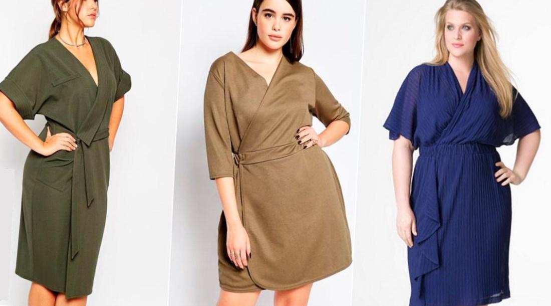 cc9aa4b78c0 Платье с запахом для полных - 20 стильных образов 2017 года Выкройка платья  с завышенной талией · zoom in