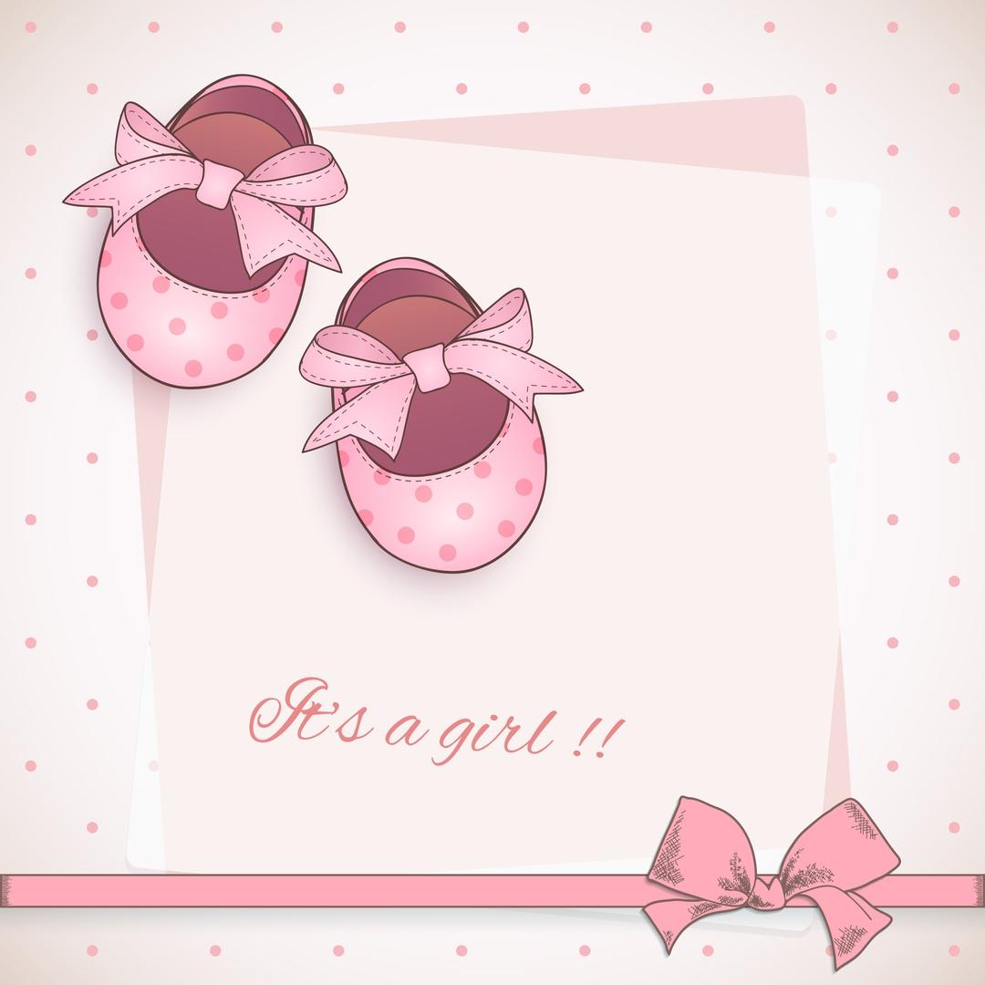 Открытки с пинетками для девочки