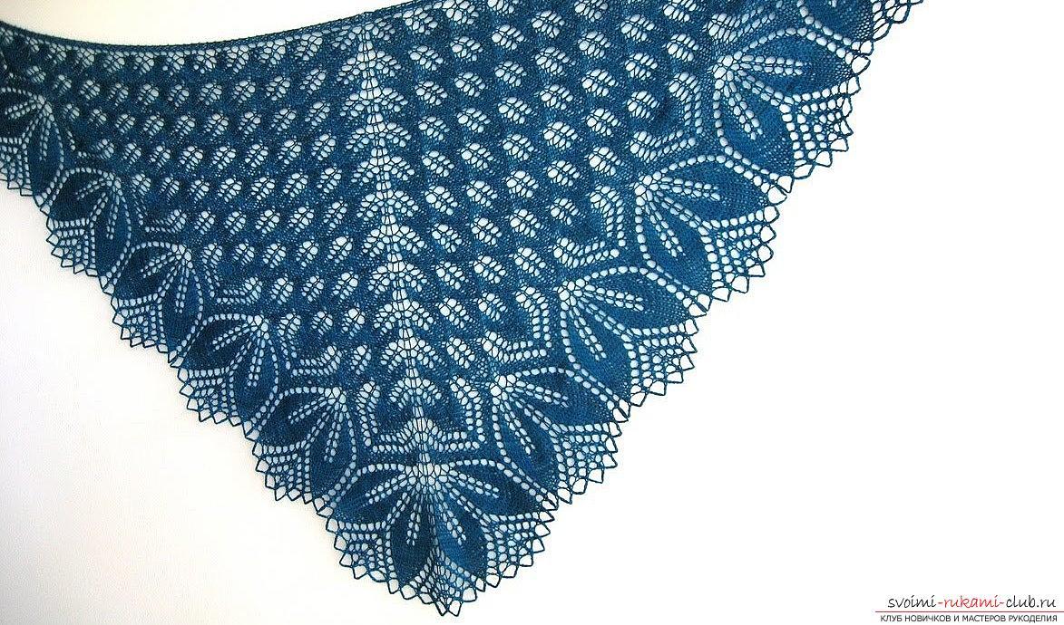 Шаль крючком схема и описание вязания ажурной шали.