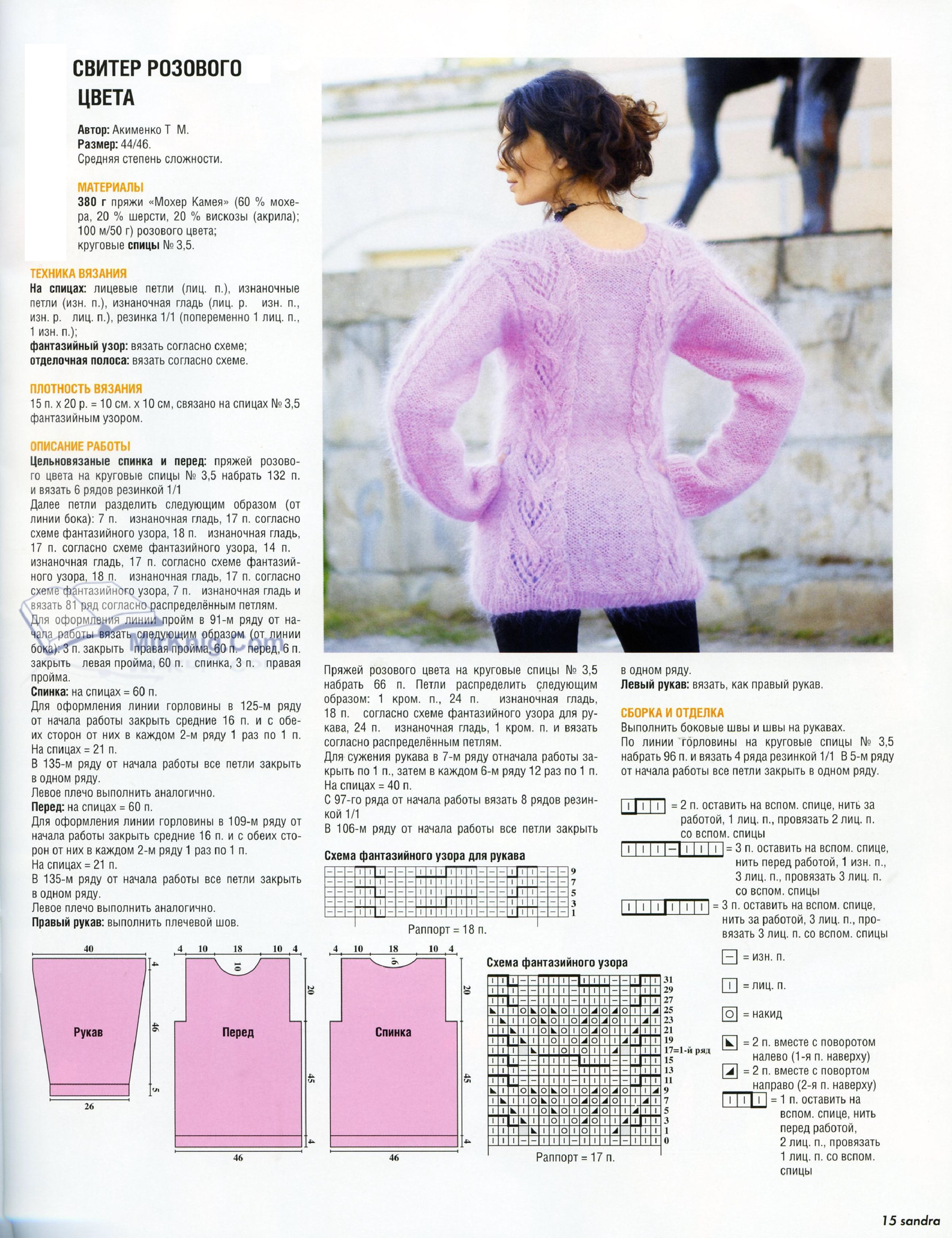 схемы вязания свитера из мохера фото маршал рокоссовский был