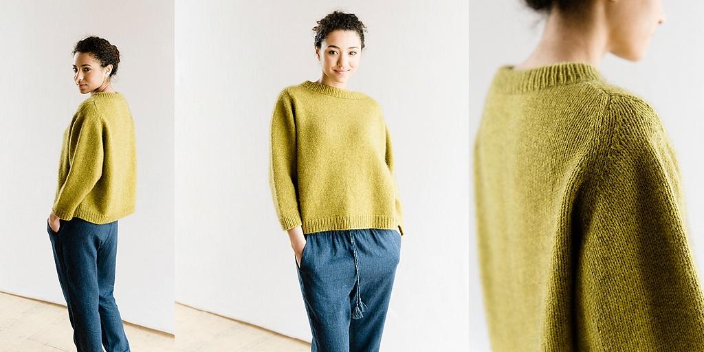 пуловер оверсайз спицами Cline женский пуловер оверсайз спицами