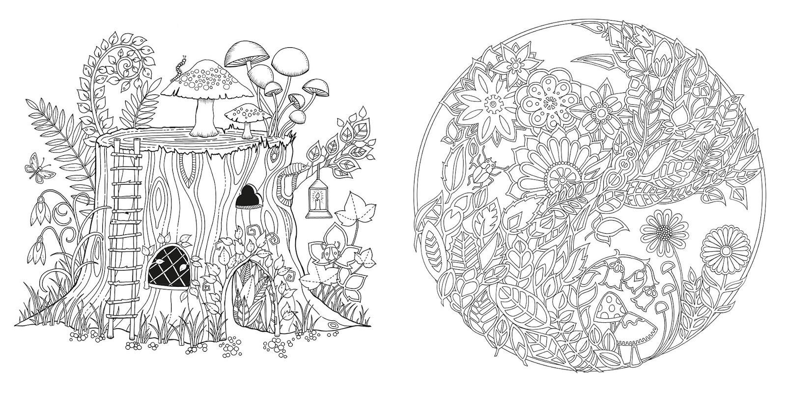 Днем рождения, раскраска джоанны басфорд зачарованный лес образцы раскраски