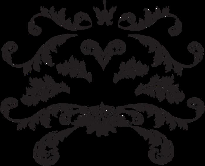 Картинка черные вензеля