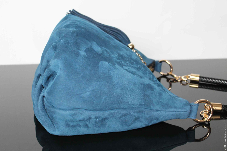 8898cb4d7566 Купить 'BLUES' Сумка замшевая, хобо, замшевая сумка, синяя сумка ...