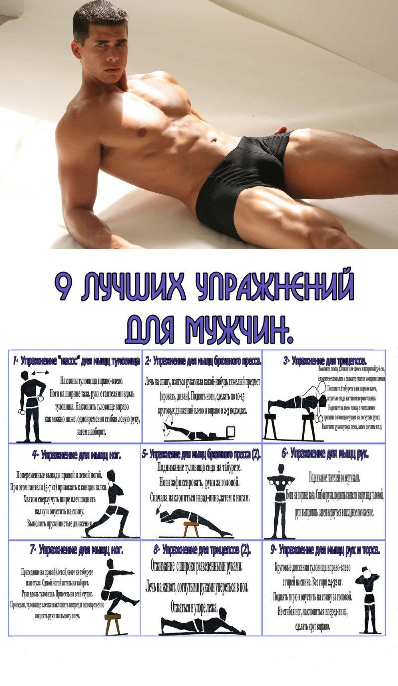 Сбросить вес мужчине упражнения