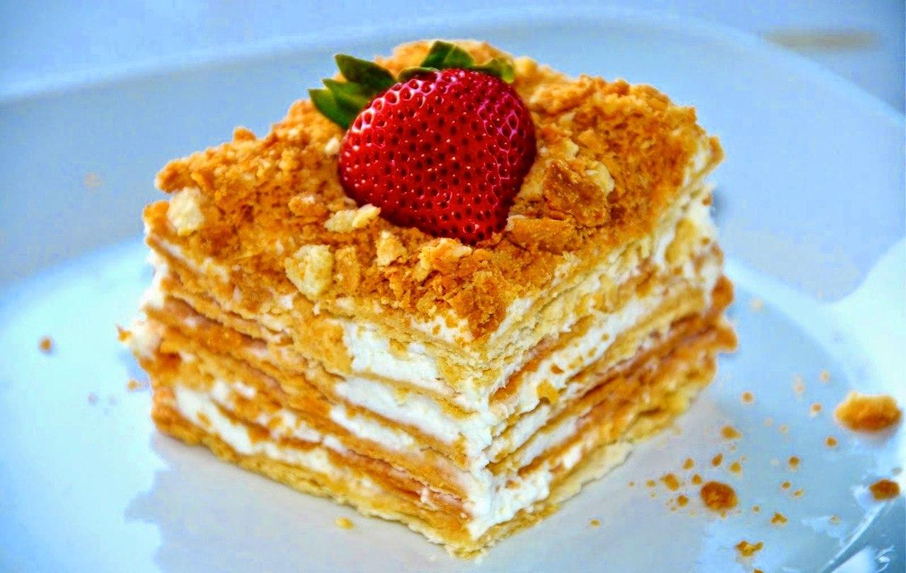Торт слоеный простой рецепт с фото